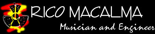 guitar logo: Rico Macalma - musician and recording engineer